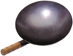 Wok, Eisenpfanne, Durchm.30 cm rund