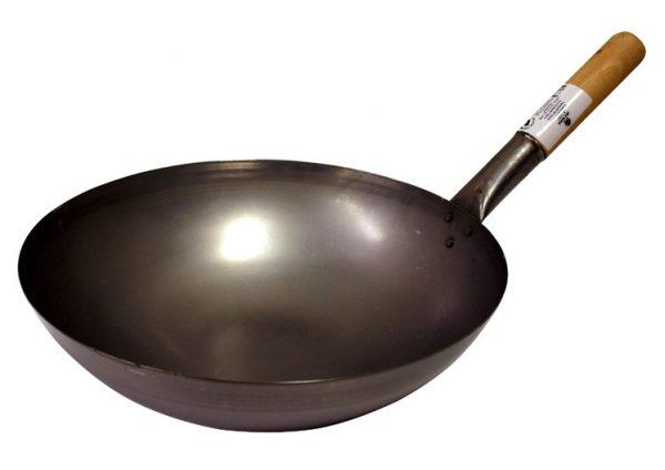 Wok, Eisenpfanne, Durchm.35 cm rund