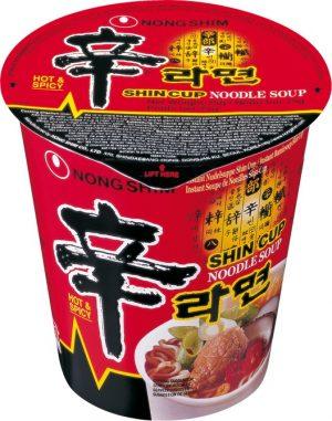 Instant-Cup-Nudeln, scharf (Shin Ramen)